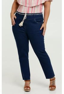 Calça Feminina Jeans Reta Plus Size Marisa