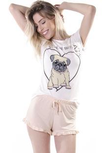 Pijama Gang Pug Fofo Branco