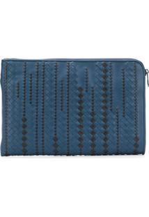 Bottega Veneta Clutch Intrecciato - Azul