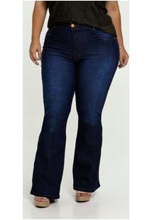 Calça Jeans Flare Stretch Feminina Plus Size Biotipo