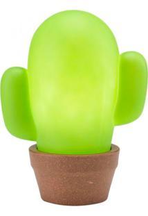 Abajur Luminária Decorfun Criativa Divertida Cacto Verde Com Fio