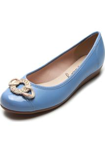 Scarpin Moleca Fivela Azul