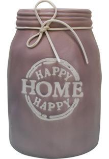 Vaso Happy Home Rosa