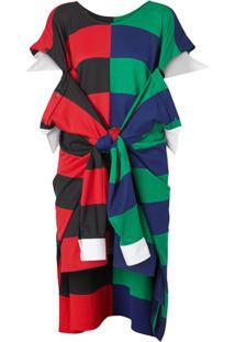 Burberry Vestido Listrado - Vermelho