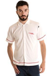Camisa Konciny Manga Curta Branco