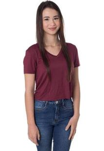Blusa Cropped Daniela Cristina Gola V 10019 26 Roxo - Roxo - Pp - Feminino