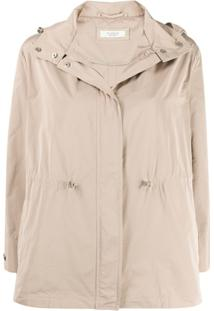 Peserico Hooded Zip-Up Jacket - Neutro