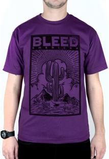 Camiseta Bleed American Cactus Roxo
