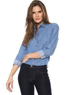 Camisa Lança Perfume Recortes Azul