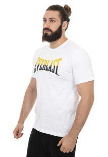 Camiseta Everlast Logo Bicolor Branco