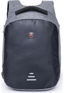 Mochila Oh My Bag Swissport Antifurto - Unissex-Cinza