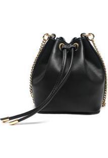 Bolsa Macadamia Bucket Bag Vermelho - Feminino-Preto