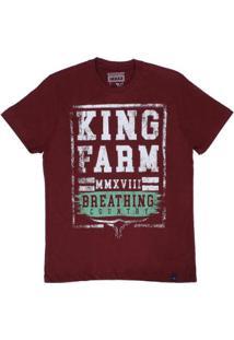 Camiseta King Farm Masculina - Masculino-Vermelho Escuro