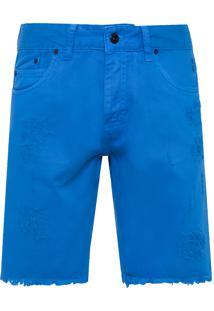 Bermuda Masculina Denim Color - Azul