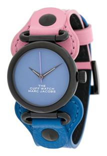 Marc Jacobs Watches Relógio The Cuff Bicolor - Azul
