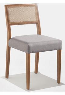Cadeira Gardênia Encosto Tela Natural Base Madeira Maciça Jequitibá Tremarin Design By Studio Marko20
