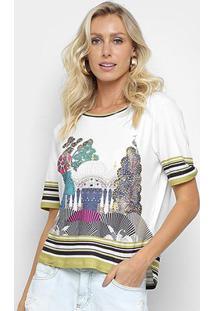 Camiseta Morena Rosa Índia Feminina - Feminino-Preto