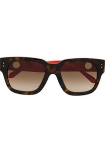 Linda Farrow Óculos De Sol Quadrado - Marrom