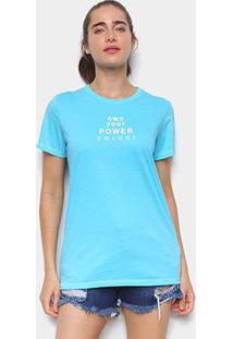 Camiseta Colcci Own Your Power Feminina - Feminino-Azul Royal