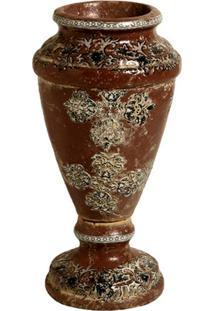 Vaso De Cerâmica Marrom Lanta G