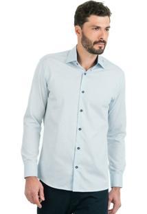 Camisa Di Sotti Dobby Azul Claro - Masculino