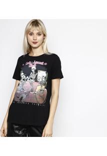 Camiseta Caveiras - Preta & Rosamy Favorite Things