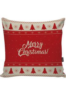 Capa Para Almofada Merry Christmas Tree- Vermelha & Begestm Home