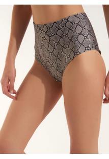 Calcinha Rosa Chá Audrey Snake Beachwear Estampado Feminina (Estampado, G)