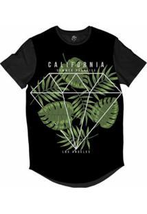 Camiseta Bsc Longline California Diamante La Sublimada Masculina - Masculino-Preto