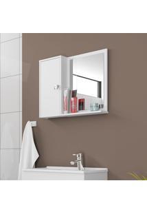 Espelheira Para Banheiro Móveis Bechara Gênova Branca