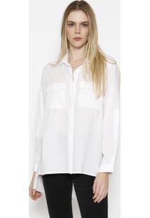 Camisa Lisa Com Vazados - Brancacalvin Klein