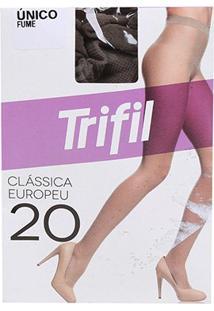 Meia Calça Trifil Fio 20 Europeu Feminina - Feminino-Chumbo
