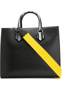 Dolce & Gabbana Bolsa Tote Com Logo Gravado - Preto