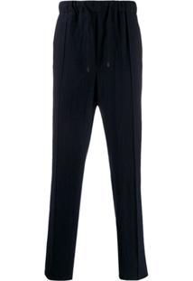 Fendi Straight-Leg Drawstring Trousers - Azul