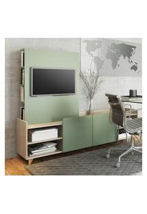 Rack Com Painel Para Tv 40 Pol Be Mobiliário Aurora 2 Portas