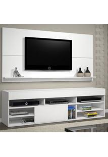 Rack Com Painel Para Tv Até 55 Polegadas Twin Siena Móveis Branco