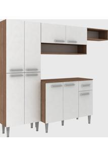 Cozinha Modulada C/ Tampo Madri 9 Portas Teka/Branco Fellicci Mã³Veis - Branco - Dafiti