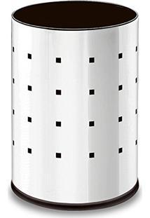 Lixeira Em Aço Inox 9.4L 20X29Cm Prata Alpha 3001201 Brinox