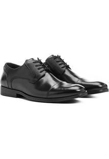 Sapato Social Couro Shoestock Recortes - Masculino-Preto