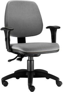 Cadeira Giratória Lyam Decor Job Cinza