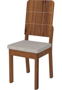 Cadeira Dama 2 Peças - Pena Bege - Rústico Terrara