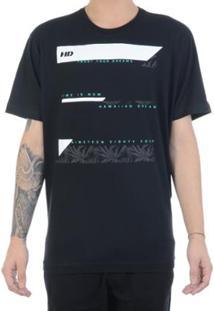 Camiseta Hd Fusiflora Masculina - Masculino-Preto