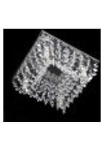 Lustre Cristal Legitimo Plafon Quadrado 20X20X08Cm - Jp/Kyoto/20
