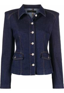 Dolce & Gabbana Jaqueta Jeans Slim - Azul
