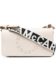 Stella Mccartney Bolsa Transversal Stella Com Logo - Branco