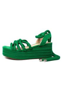 Sandália De Corda Damannu Shoes Thaila Verde