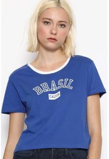 """Blusa """"Brasil"""" - Azul & Brancacalvin Klein"""