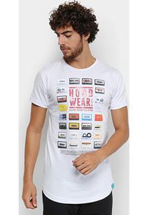 Camiseta Fatal Alongada Rappin Hood Tapes Masculina - Masculino-Branco