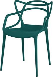 Cadeira Master Allegra Polipropileno Verde Petroleo - 34297 Sun House