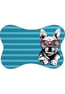 Tapete Pet Mdecore Bulldog Turquesa 46X33Cm